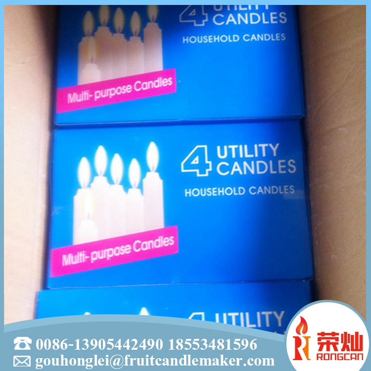Manufacturer directly supply white unscented candle