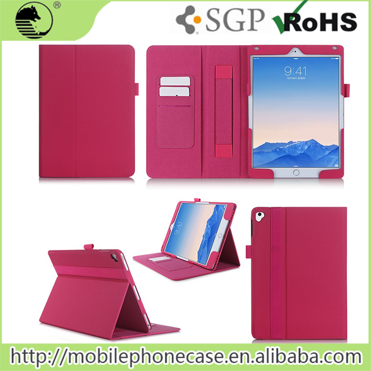 Flip design smart leather case with card slot for ipad pro