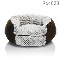 High quality and luxury America style round pet bed for dog of rosey form