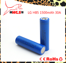 Authentic rechargeable battery Lg hb5 18650 1500mAh 30A vape battery for e-cig/tool power/e-bike