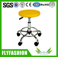 Height Adjustable Laboratory Chair Metal Swivel Lab Stool (PC-34)
