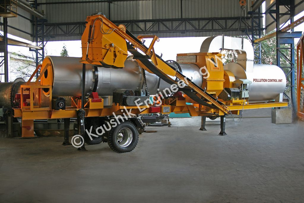 Mobile Asphalt Drum Mix Plant 40 - 60 Tons per Hour