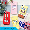 Sponge baby cartoon case for iphone 7 cute animal phone case for iphone 7