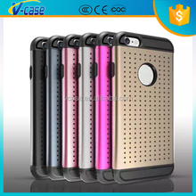 2016 New Arrival Best Double Color metal + tpu phone case for iPhone