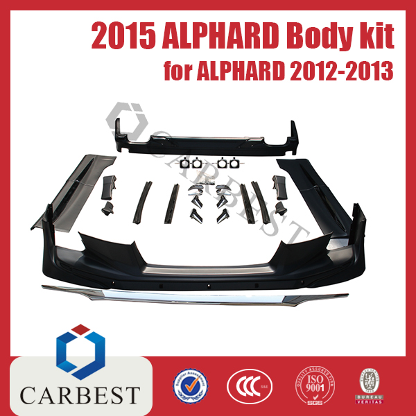 High Quality New Southeast Asia Type 2015 Alphard Body Kit for Toyota Alphard 2012-2013