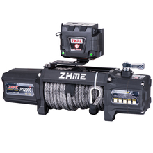 12000lbs pull electric power resource auto application heavy duty winch with synthetic rope