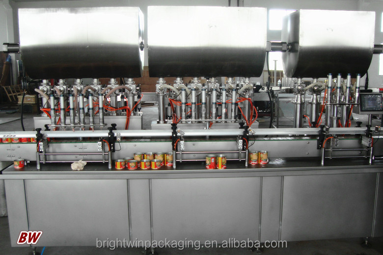 factory price automatic fat tin can filling machine