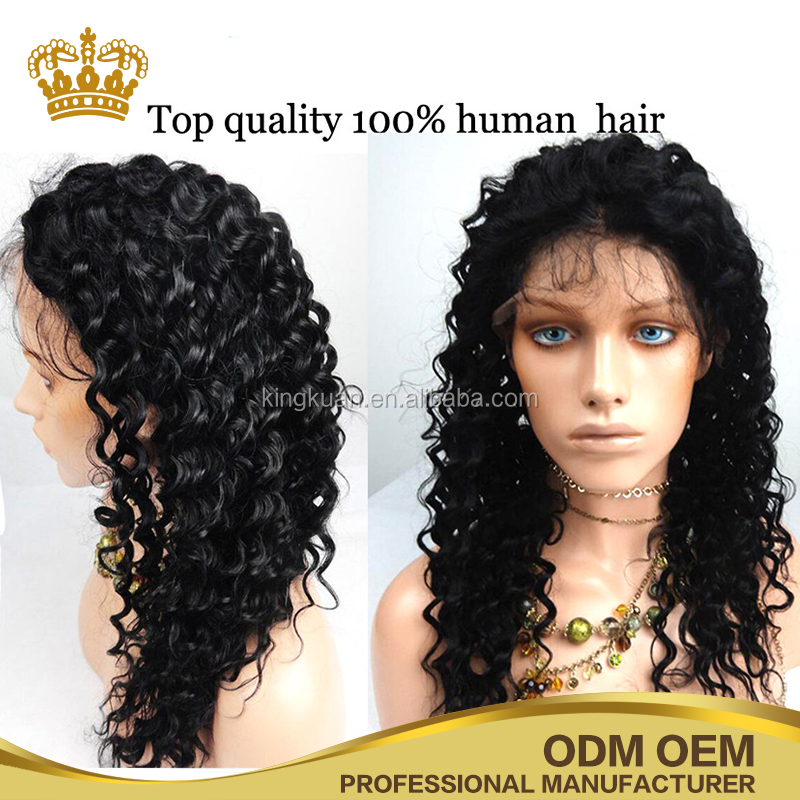 Water Wave Hot sale top quality human hair full lace wigs