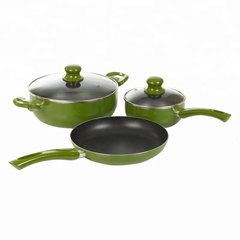 Hot selling nonstick cookware set with tempered glass lid
