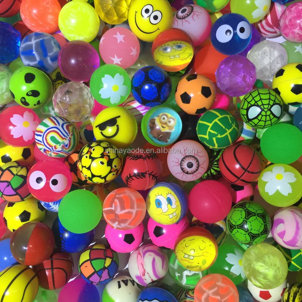 32MM Mixed Rubber Ball Vending Machine Bouncing Ball