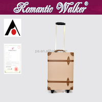 PU Trolley Luggage Classical Luggage With Quiet Wheels (hand made)