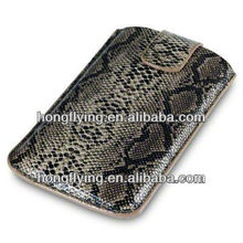 Leather Pouch case for LG Google Nexus 4 with snake decorate