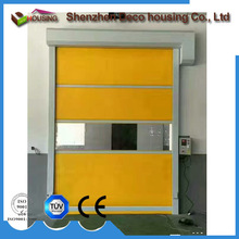 CE Certified high speed automatic pvc rolling shutters door galvanized steel fast roller shutter doors full view