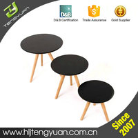 Supplier Heat Resisting Wood MDF Round Small Coffee Table