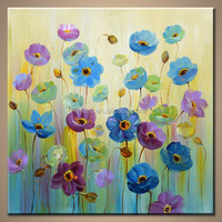 2016 Newest Design Fabric Flower Painting Wall Artwork Designs