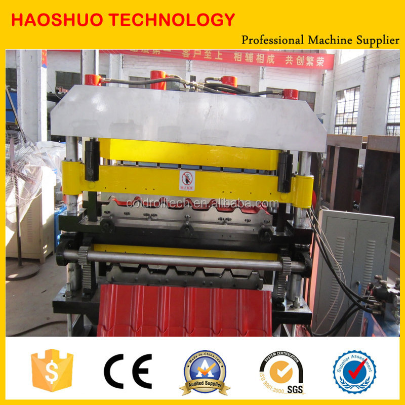 Double Layer building materials glazed tile Roofing Sheet Roll Forming Machine,Machinery
