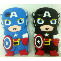 smart cartoon 3D sublimation case soft silicone case for iphone 4 ultraman case