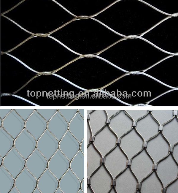 Flexible Stainless Steel Wire Rope Mesh/Bird Netting/Zoo Mesh
