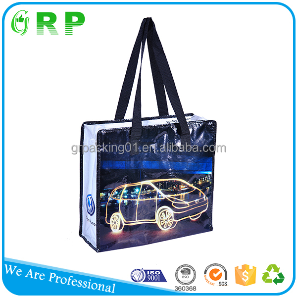 Reusable custom printing laminated eco pp woven shopping bag