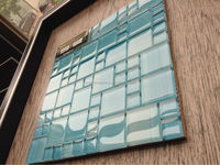 Blue and green decoration crystal glass mosaic tile