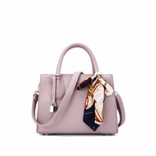 Office Lady Style Solid Colors Scarf Tote Bag/Handbags