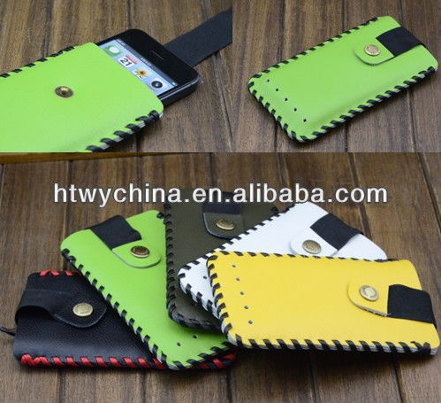 Showkoo Handmade Leather Case Pouch Purse Sleeve Cover fit for iPhone 4 4S 5 5S 5C