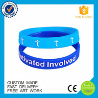 Manufacture fitness wristband custom embossed silicone bracelet