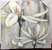 Refined flower handmade home goods wall art stretched canvas painting