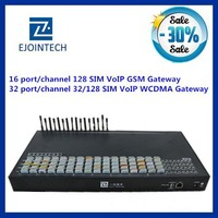 Ejontech 32 port voip gsm gateway 32/128 sim card slots customised IVR cellular network compatible