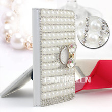 Luxury Crystal Rhinestone Diamond Flip Stand Wallet Leather Case For Lenovo Vibe C2