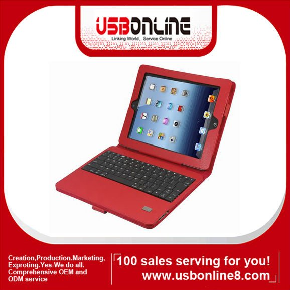 Stock for Ipad 4 Bluetooth Keyboard with Leather case