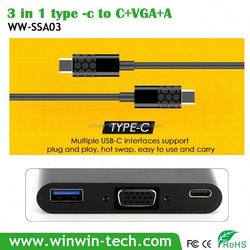 Type c to V-G-A converter usb 3.1to 3.0 otg adapter
