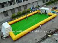 inflatable soap football playground A6017
