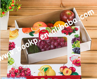 custom printed colored carton boxes for fruits/apple fruit packaging boxes