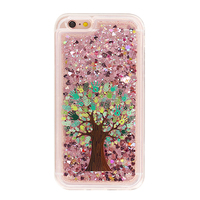 Glittering hybrid quicksand back cover case for iphone6