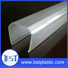 Customized fluorescent light fixture pc plastic lamp cover