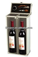 Aluminum black or silvery white hot selling wine carrying case