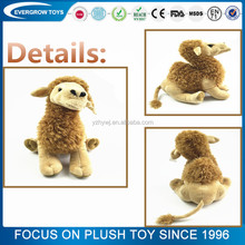 Custom animal plush toy brown color camel stuffed toys