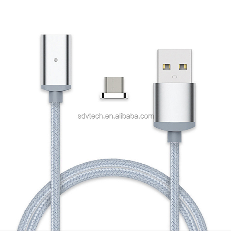 Highly praised multi nylon braided magnetic usb data cable for android