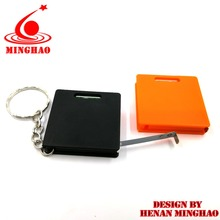 China Factory DIRECTLY SUPPLY Round Shape Mini Tape Measure Keychain With Custom Logo