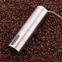 Hot sale Brushed Stainless Steel Manual Coffee Grinder Conical Burr Mill for Precision Brewing