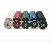 Hot sale 38mm cheap poker chip with case for Entertainment