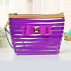 2016 online shopping PVC Cosmetic Bag with Color Trim Clear Vinyl Travel Makeup Bag Beauty Case Pouch