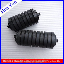 133mm Dia Rubber Coating Roller Belt Conveyor Impact Rollers