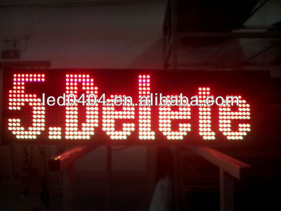 Programmable LED display sign