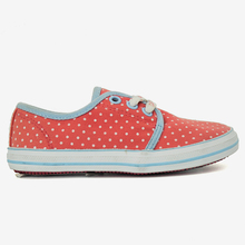 Fashion sweet girls shoes with white dots printed