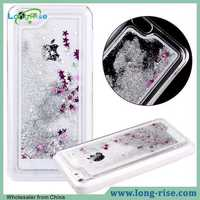 China Wholesale 3D Glitter Liquid Back Cover Case for iPhone 5C, for iPhone 5C Quicksand Liquid Case