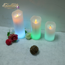 Multi color real wax led candle wireless remote control flameless candles make color changing