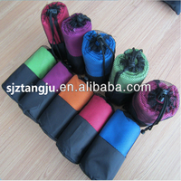 Wholesale Custom Embroidery Microfibre Sports Towel Whit Bag, Microfiber Gym Towel, Microfiber Towel