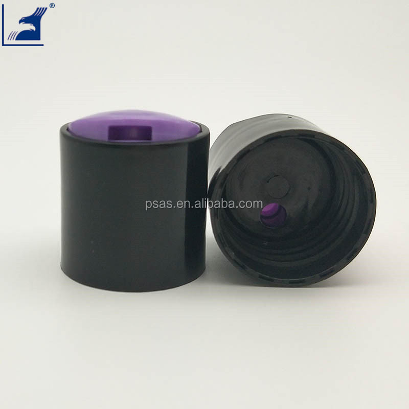 Round smooth 28mm disc top press cap
